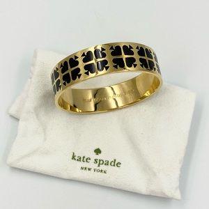 Kate Spade Black/Gold Spade Bangle Bracelet